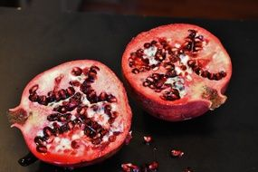 Pomegranate Fruits Red Colorful
