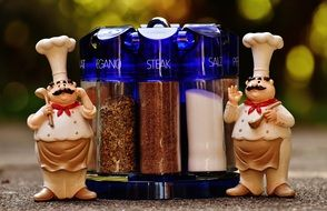 funny decorative figurines Chefs Spices
