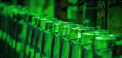 Glass Bottles Green