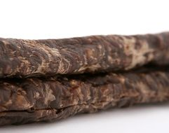 African biltong beef on the white background