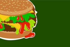 painted burger