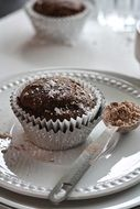 tasty Chocolate Cupcake Dark Dessert