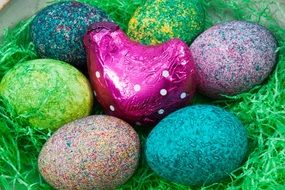 Easter Nest with color Egg