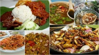 Asian different kinds of Food Collage