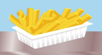 fast Food, Fried Potatoes, illustration