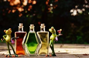 Frogs Beverages Bottles Alcohol figures