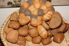 basket with different types of bread