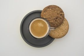 energy coffee and cookies