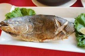 tasty grilled fish