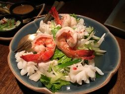 Thai salad with shrimp