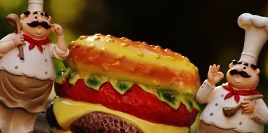 Chefs funny Figures Cheeseburger figure