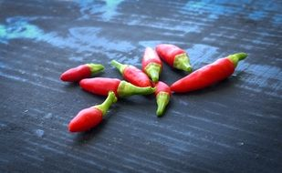 Spicy red peppers