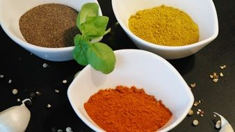 Spices Paprika and Chili Powder