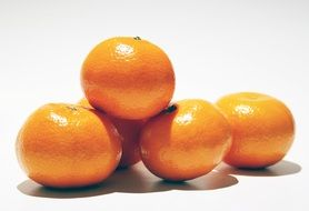 a few orange mandarin