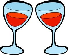 drawing of two glasses of wine