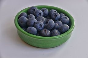 sweet blueberries in the bowl