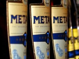 bottles of metaxa