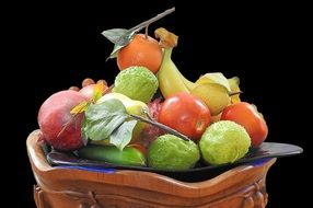 healthy Fruit plate decoration