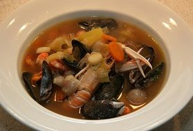 Bouillabaisse, French seafood Soup