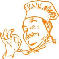 drawing of a chef in cooking