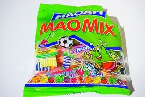 colorful packaging with maomix sweets