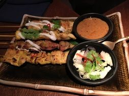 Thai appetizers with sauce