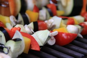 vegetables for a barbecue