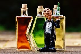 Waiter figurine Beverages Bottles