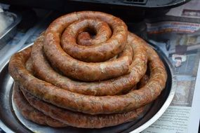 homemade sausage as a delicacy