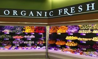 shop with organic food