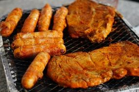 Meat and sausage Barbecue Food Grill