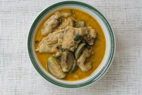 Chicken with eggplant, thai green curry