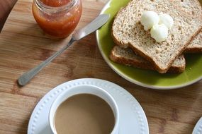 Breakfast Butter Sprouted Bread coffee morning