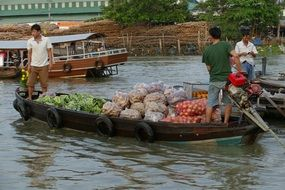 Vietnam Mekong River floating market
