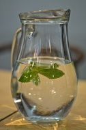jug with mint water