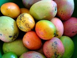 a lot of mangoes lie in a heap