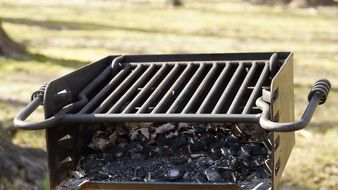Barbecue Grill above coal outdoor