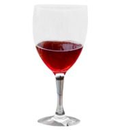 Glass with red Wine, illustation