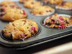 Delicious homemade baked muffins