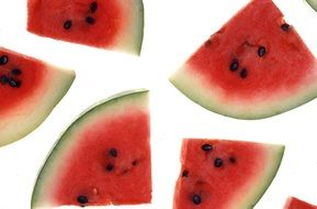 slices of red watermelon