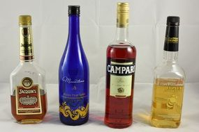 variety of bottles with alcohol