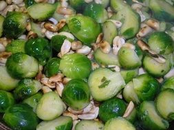 Brussels Sprouts Toasted Peanuts