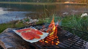 trout for a barbecue