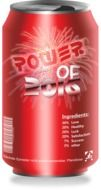 red aluminium can with power of 2016