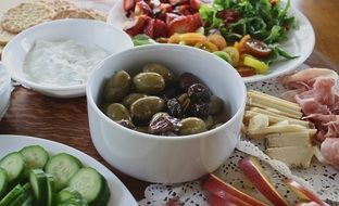 olives cucumbers vegetables healthy nutrition
