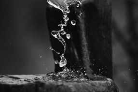 large water drops close-up