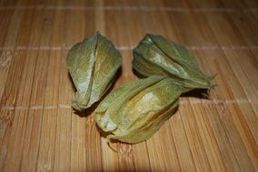 three closed physalis