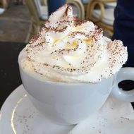 Whipped Cream on a coffee