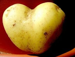 heart-shaped potatoes