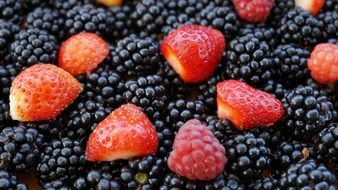 picture of the Strawberries and Blackberries